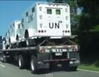 Armored UN Trucks Spotted In Georgia