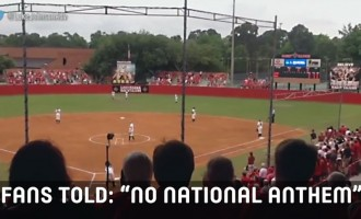 See What Fans Do When Told There Would Be No National Anthem Played At Game