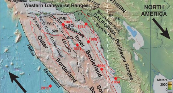 Newly Discovered Continental Collision Could Trigger Massive California Tsunami